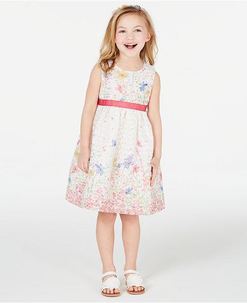 Blueberi Boulevard Toddler Girls 2-Pc. Shrug & Floral-Print Dress Set