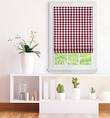 Cordless Buffalo Check Roman Window Shade Collection