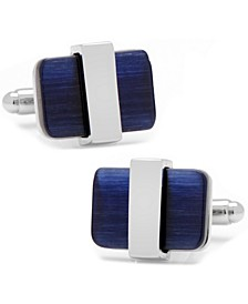 Wrapped Navy Cats eye Cufflinks