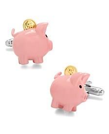 3D Piggy Bank Cufflinks