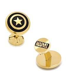 Stainless Steel and Captain America Cufflinks
