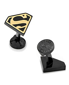 Stainless Steel and Superman Cufflinks
