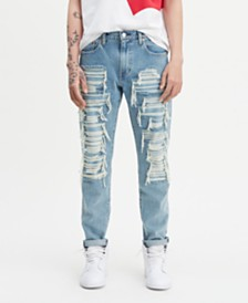 Levi's® Men's Ripped 502 Regular Tapered Sneaker Jean Hi Ball Roll