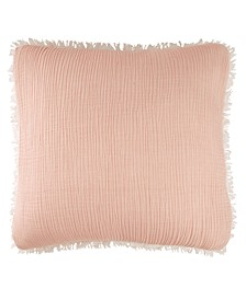 Home Gauze Euro Sham Blush