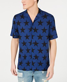 American Rag Men's Star Print Camp Collar Shirt, Created for Macy's