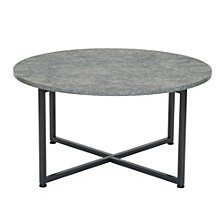 Slate Round End Table