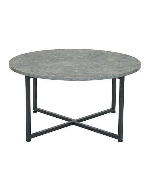 Household Essentials Slate Round End Table