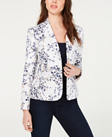 Nine West Floral-Print Blazer
