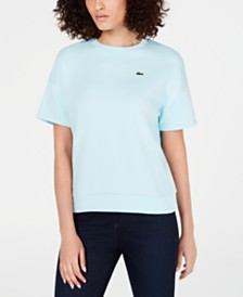 Lacoste Short-Sleeve Fleece Sweatshirt