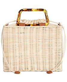 I.N.C. Straw Picnic Crossbody, Created for Macy's