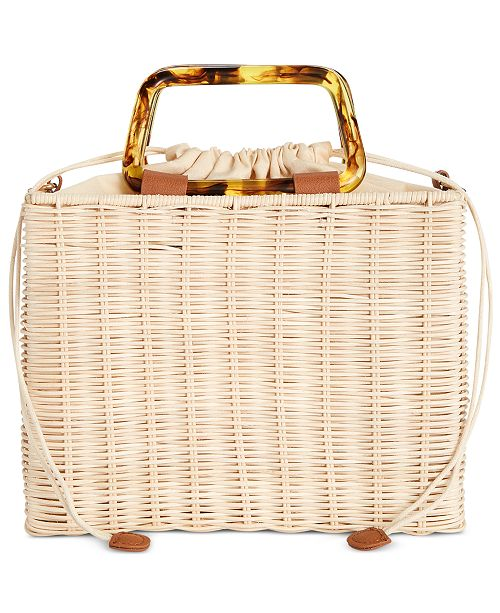 INC International Concepts I.N.C. Straw Picnic Crossbody, Created for Macy's