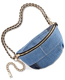 9be2d58d443 Steve Madden Drama Denim Patch Belt Bag