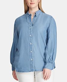 Lauren Ralph Lauren Plus Size Denim Shirt
