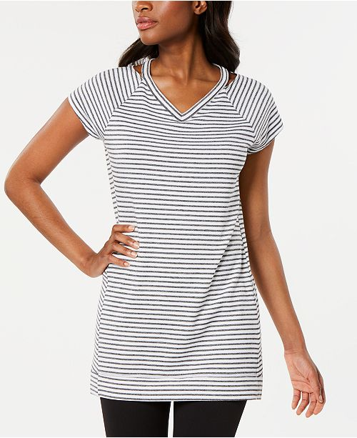 Ideology Cutout Striped Tunic, Created for Macy's