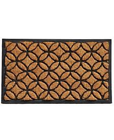 Home & More Circles Coir/Rubber Doormat Collection