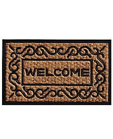 "Carbella 18"" x 30"" Coir/Rubber Doormat"