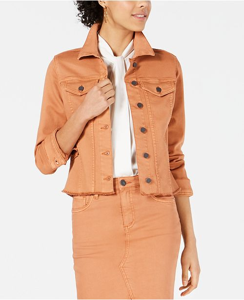 Kut from the Kloth Kara Cropped Jean Jacket