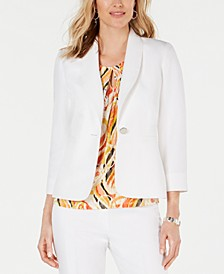 One-Button Shawl-Collar Blazer
