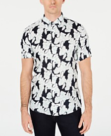 Michael Kors Men's Linen Floral Shirt, Created for Macy's
