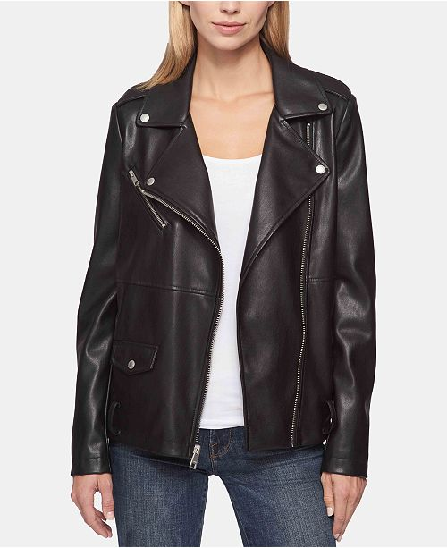 b0f63fbfed0 Levi s Belted Faux-Leather Moto Jacket   Reviews - Jackets   Vests ...