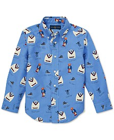 Polo Ralph Lauren Toddler Boys Icon-Print Cotton Oxford Shirt