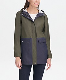 Women's Colorblocked Raincoat