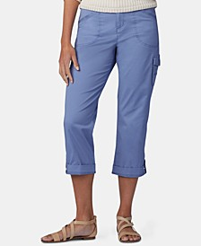 Petite Cropped Cargo Pants