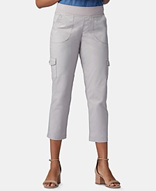 Petite Pull-On Cargo Capri Pants