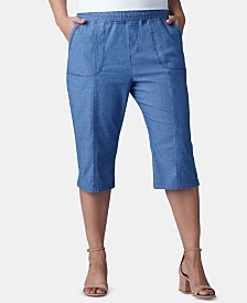 Lee Platinum Plus Size Pull-On Capri Pants