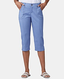 Lee Platinum Petite Patch Pocket Capri Pants