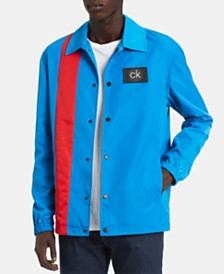 Calvin Klein Men's Colorblocked Logo Coach's Jacket