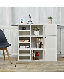 Way Basics Eco Stackable Connect Storage Cube with Shelf