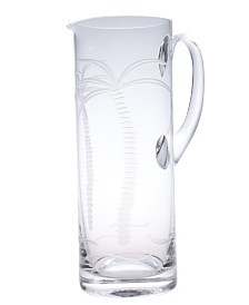 Rolf Glass Palm Tree Pitcher 35Oz