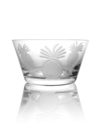 Pineapple Clear Small Bowl 6 Inch - Set Of 4 Bowls