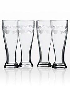 Icy Pine Beer Pilsner 16Oz- Set Of 4 Glasses