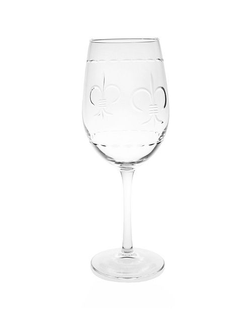 Rolf Glass Fleur De Lis White Wine 12Oz - Set Of 4 Glasses