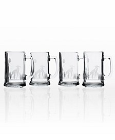 Heron Beer Mug 16Oz- Set Of 4 Glasses