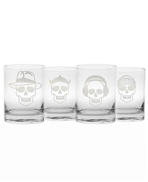 Rolf Glass Numbskulls Double Old Fashioned 14Oz - Set Of 4 Glasses