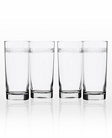 Cast Of Crabs Cooler Highball 15Oz - Set Of 4 Glasses