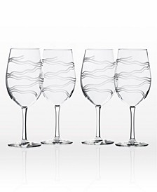 Good Vibrations All Purpose Wine Glass 18Oz - Set Of 4 Glasses