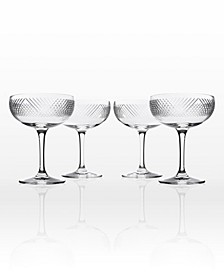 Bourbon Street Coupe Champagne Saucer - Set Of 4