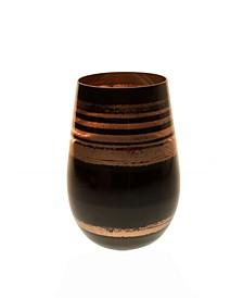 Cosmo Black And Bronze 16.5Oz Stemless Wine Tumbler - Set Of 4