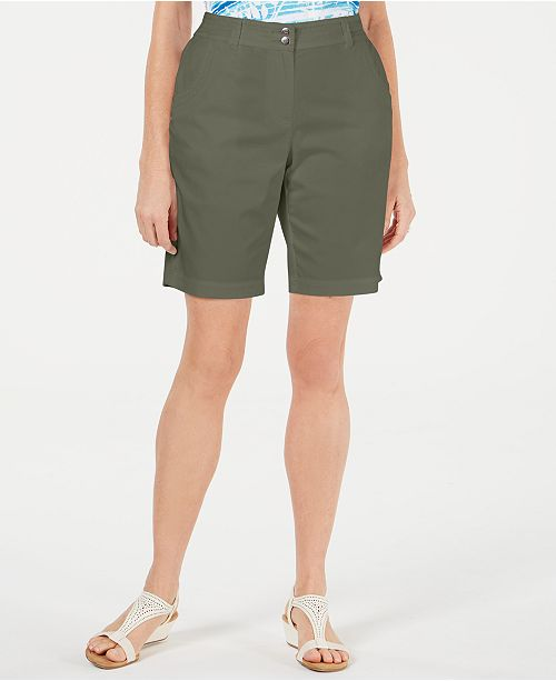 Karen Scott Curved Pocket Shorts, Created for Macy's