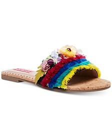 Betsey Johnson Bloomer Flat Sandals