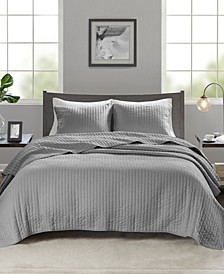 Keaton 3-Pc. Reversible Quilted Full/Queen Coverlet Set