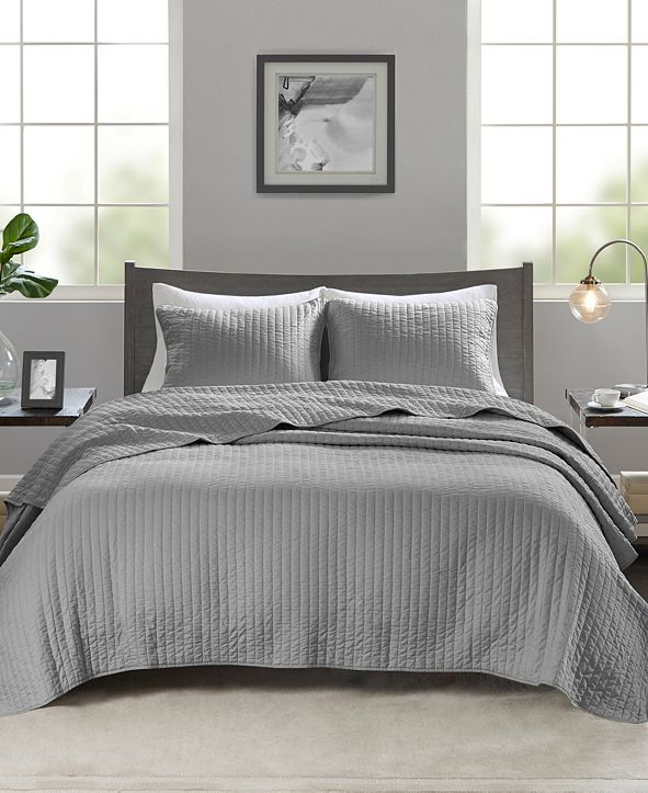 Madison Park Keaton 3-Piece Full/Queen Quilted Coverlet Set