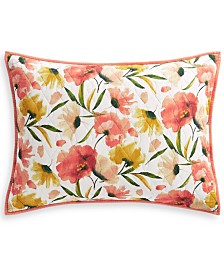 Martha Stewart Collection Sunset Floral Standard Sham, Created for Macy's