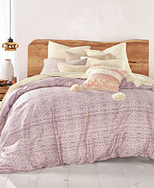 Lucky Brand Distressed Tile Cotton 3-Pc. Full/Queen Duvet Cover Set, Created for Macy's