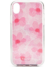 kate spade new york Glitter Abstract Peony iPhone XR Case