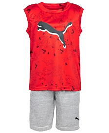 Puma Little Boys 2-Pc. Sleeveless T-Shirt & Shorts Set